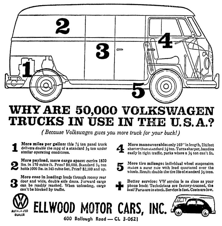 Volkswagen Vw Bus Van July 1959 Vw Bus Volkswagen Panel Truck