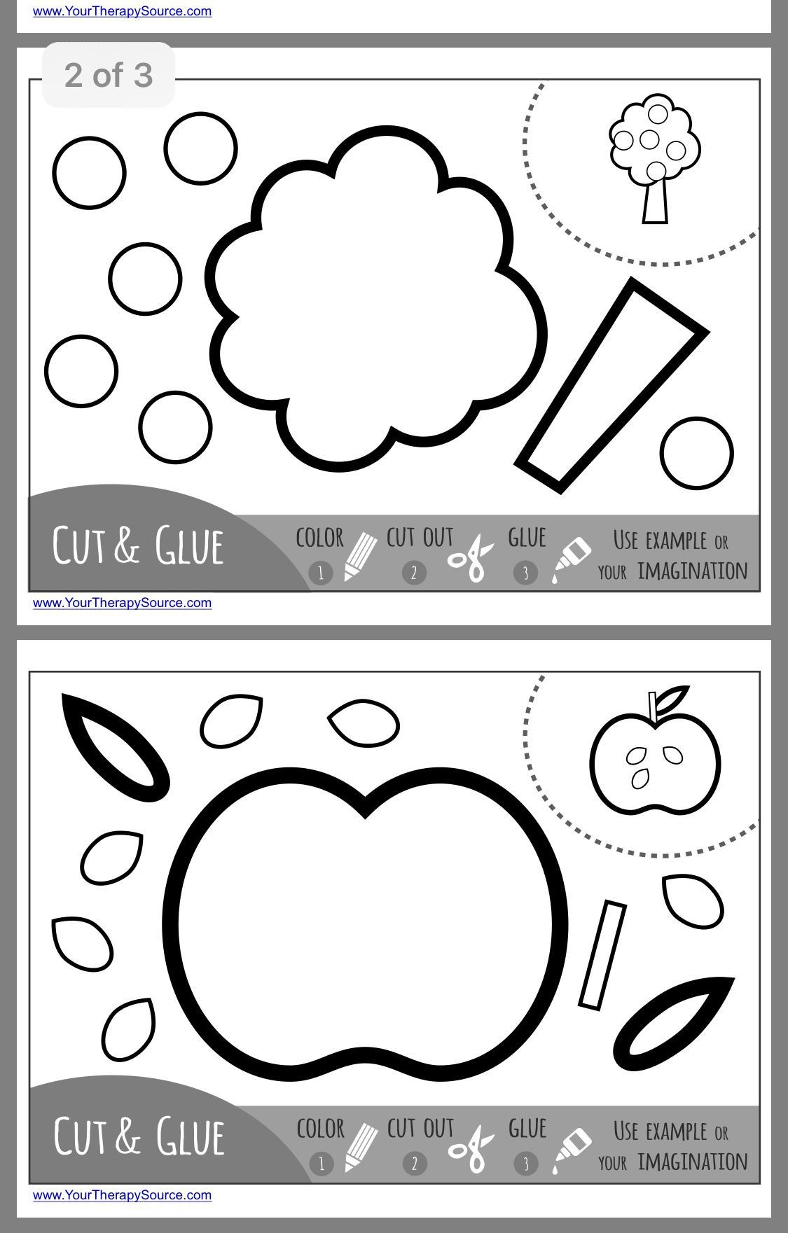 10 Printable Preschool Worksheets Cutting Shapes