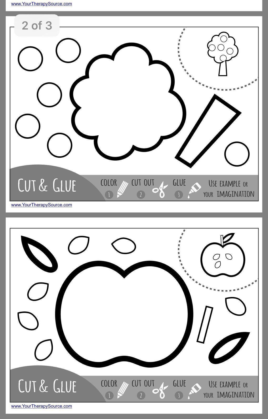 10 Printable Preschool Worksheets Cutting Shapes ...