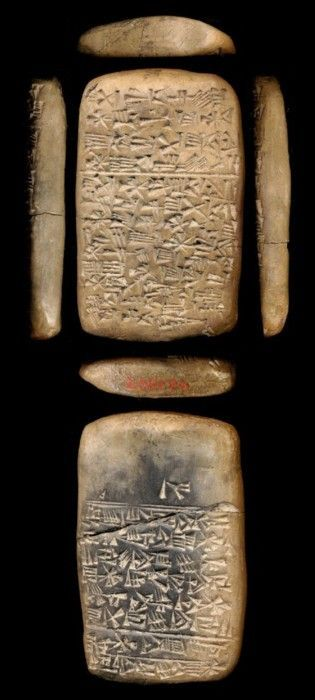 Tablet    3000 - 2000 BC Ahh, cuneiform....great, great, great (x N) Granddaddy to the lovely words I ready every day! Interestingly, although they used a stylus, they treated it as though it was a stick, so they did not 'draw' the letters but they 'stamped' them.