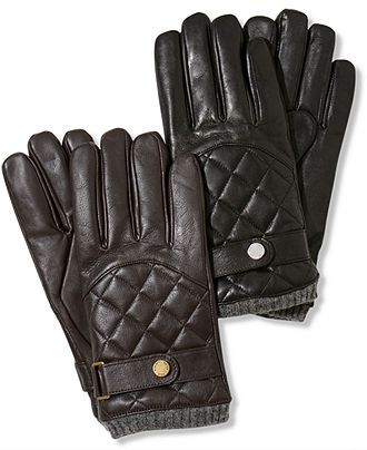 Polo Ralph Lauren Gloves, Leather Quilted Racing Gloves - Mens ... : quilted racing gloves - Adamdwight.com
