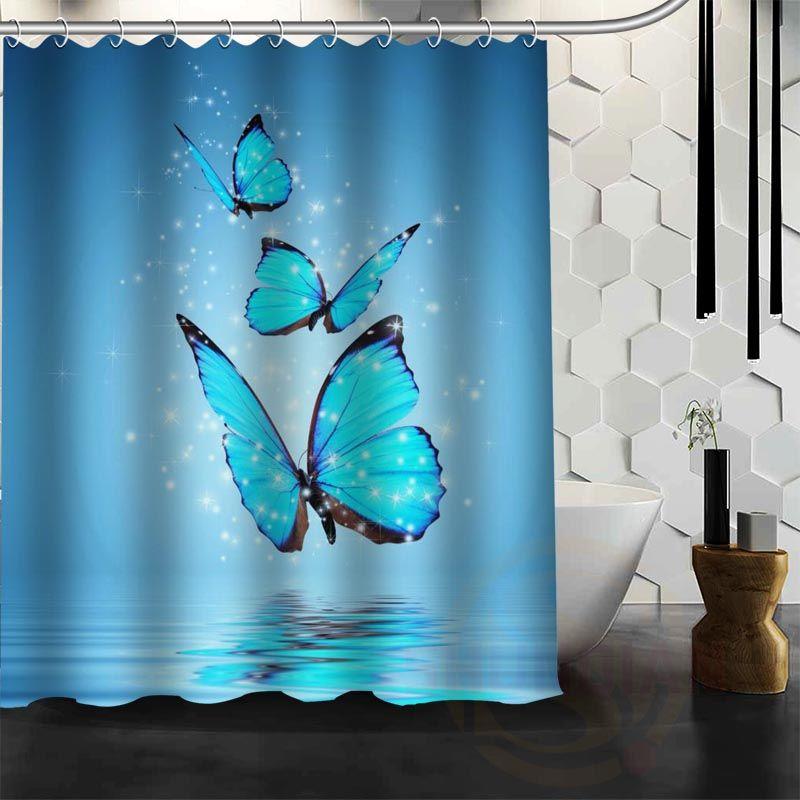 best nice custom magic butterfly shower curtain bath curtain waterproof fabric for bathroom more size wjy