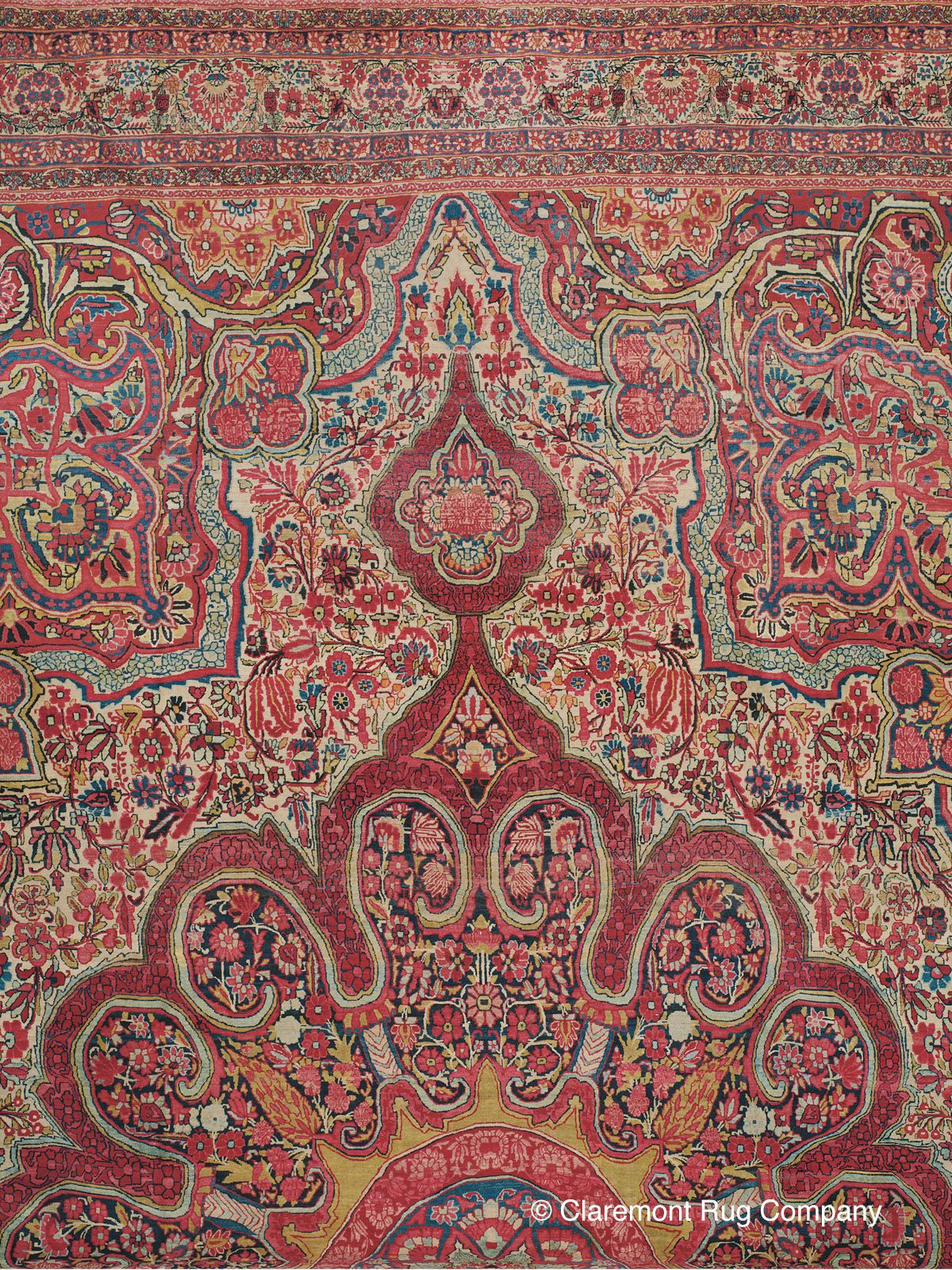 Laver Kirman Southeast Persian Antique Rug 17 0 X 24 6 Circa 1900 Claremont Rug Company Claremont Rug Company Mughal Paintings Rugs On Carpet