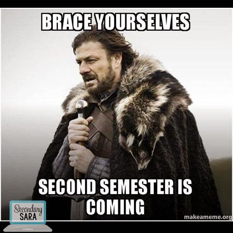 Blog Post New Pre Made Routines To Start In Your Second Semester Of English Class And Save Time Game Of Thrones Meme Pharmacy Humor Brace Yourself