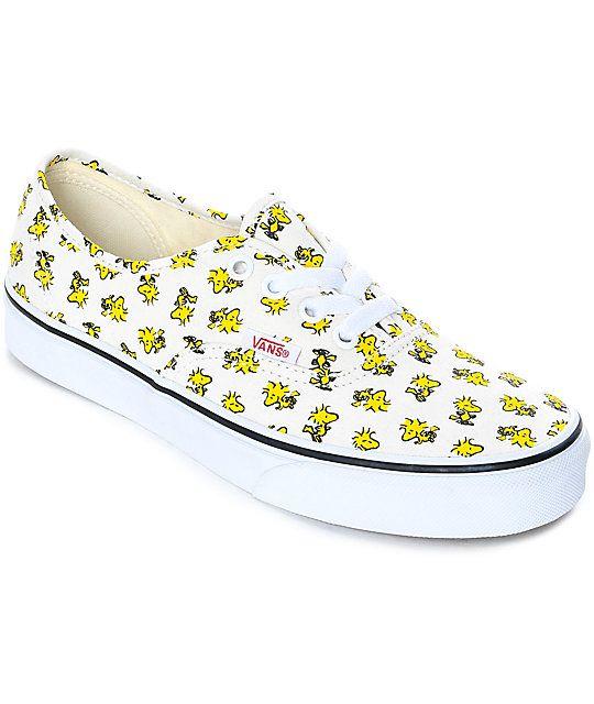4025c4bb47 Vans x Peanuts Authentic Woodstock Skate Shoes