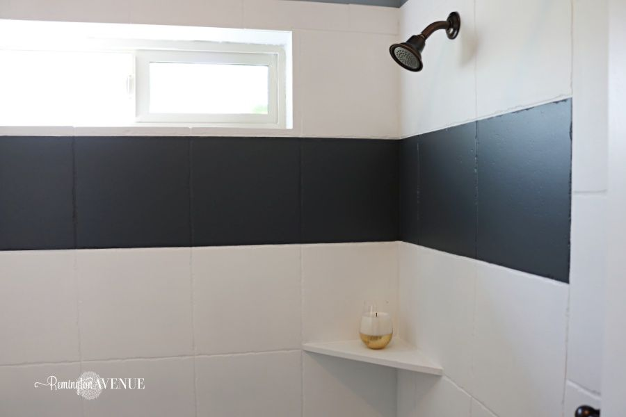 How To Paint Shower Tile Painting Shower White Tile Shower