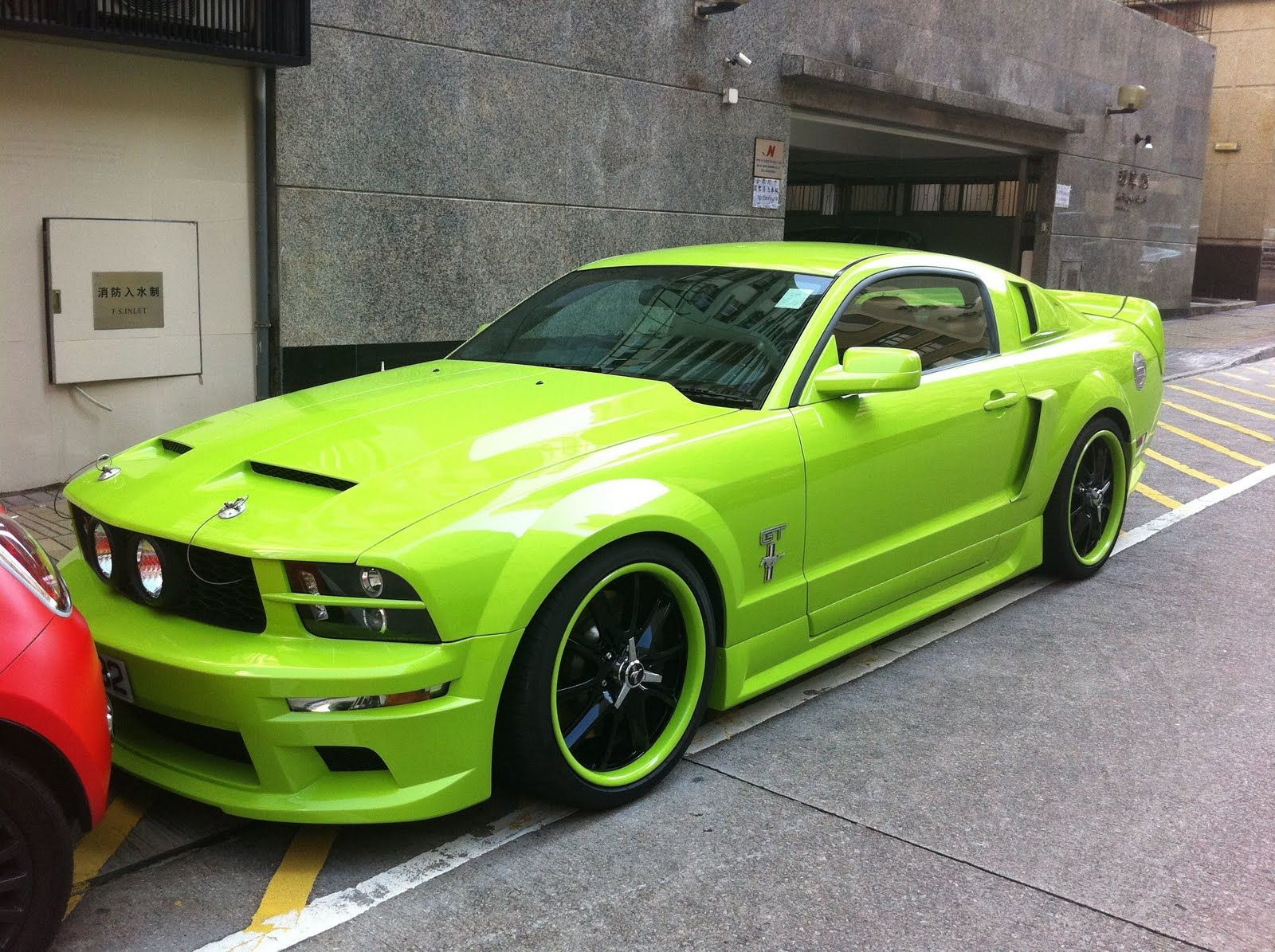 Neon green mustang cars i want ford mustang shelby mustang cars