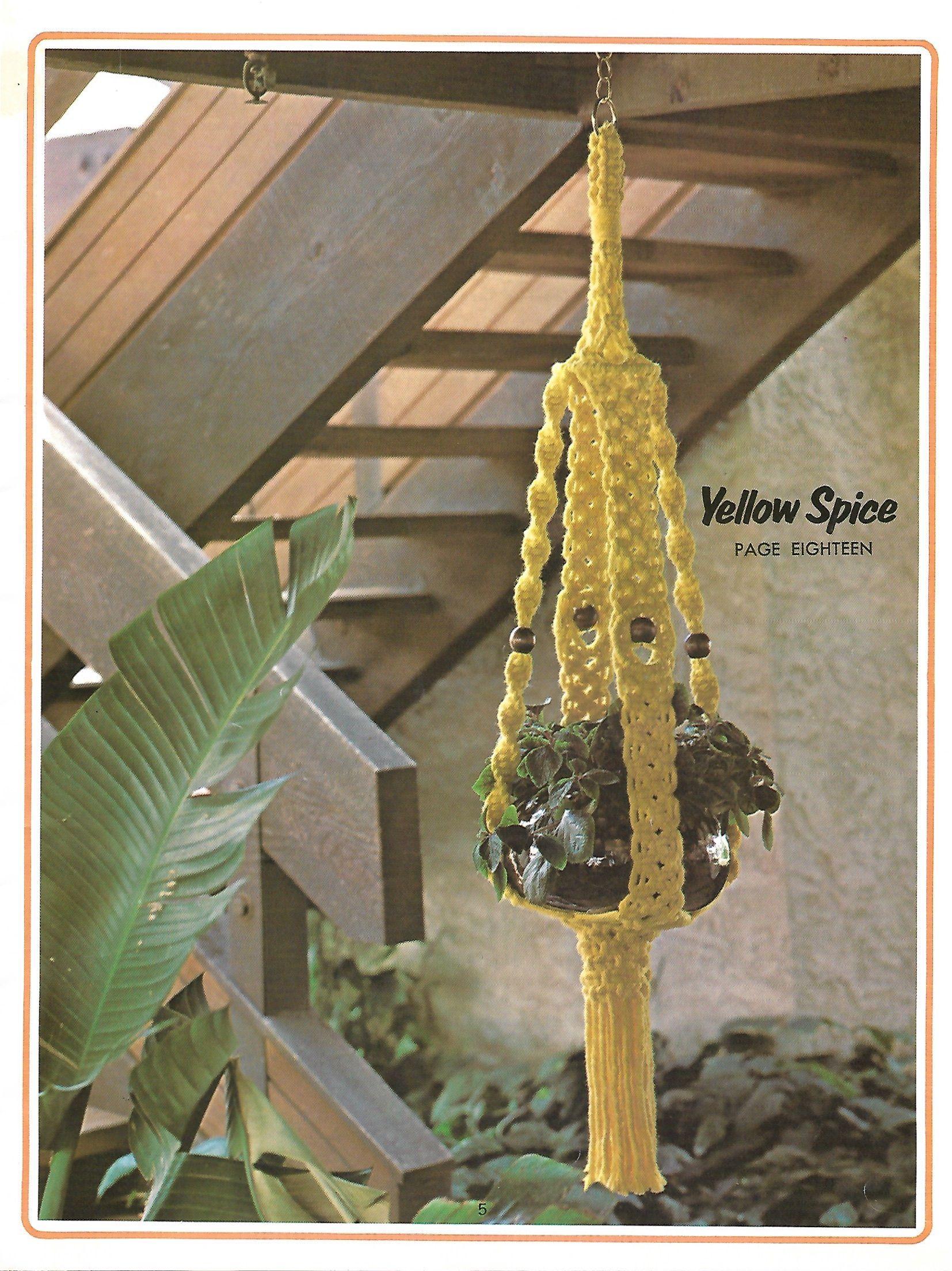 vintage 70s macrame patterns A SIP Of MACRAME   plant hangers wallhangings shelf towel holder