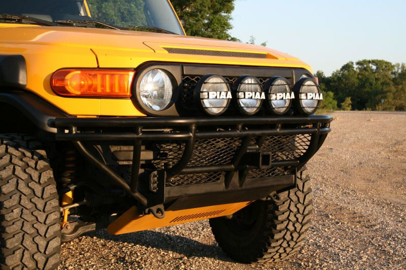 Front Reciever Hitch On An Fj Cruiser Re Front Receiver Brush Guard Skid Plate Impossible Toyota Fj Cruiser Fj Cruiser Fj Cruiser Mods