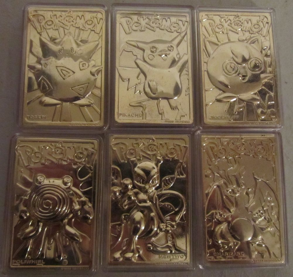 1999 Nintendo Rare Collectors 23k Gold Plated Pokemon Cards