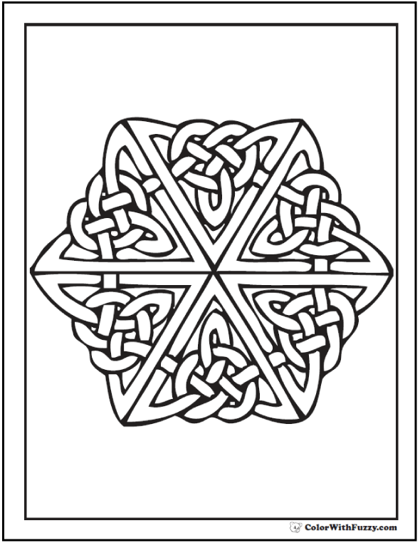 This Celtic Cross Coloring Page Shows A In The Center Of Stained Glass Window Theme Enjoy