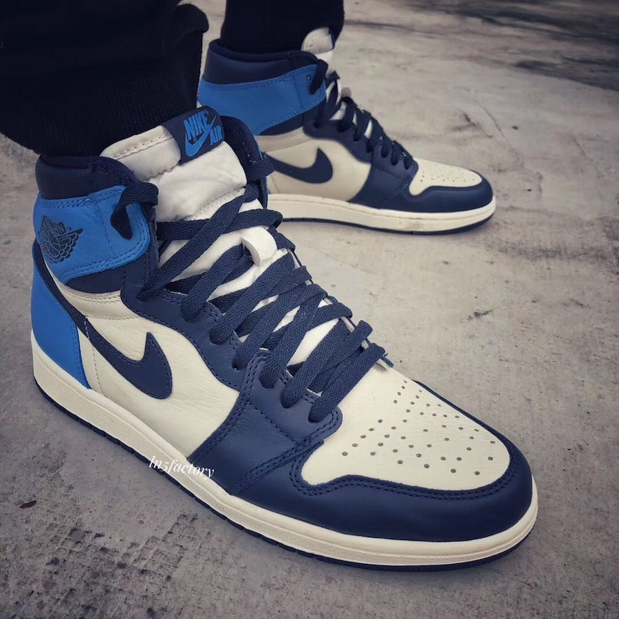 Air Jordan 1 Retro High OG 'Obsidian' University Blue in ...