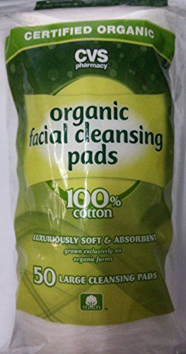 CVS Organic Facial Cleansing Pads - 50 Count Each100% Cotton