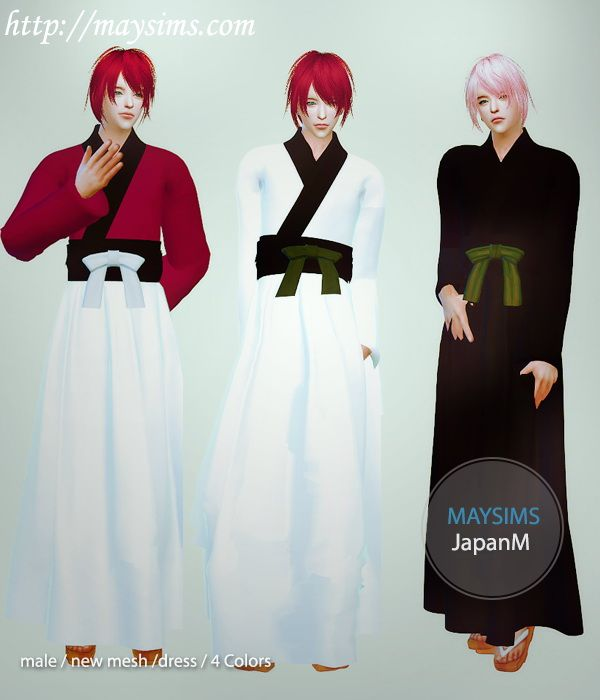 Japanese Outfit For Males At May Sims Via Sims 4 Updates