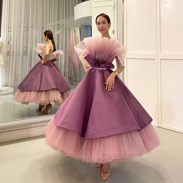 Instagram Da Emotions Atelier Ojrojira Looks Sophisticated In Custom Thai Silk Thanks For Let Me Be Part Of Your Journey In 2020 Dresses Tulle Skirt Victorian Dress