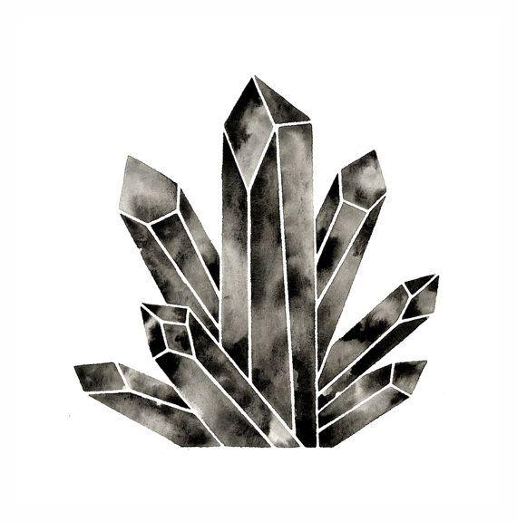 Large Crystal Print Poster . Quartz Cluster by ...
