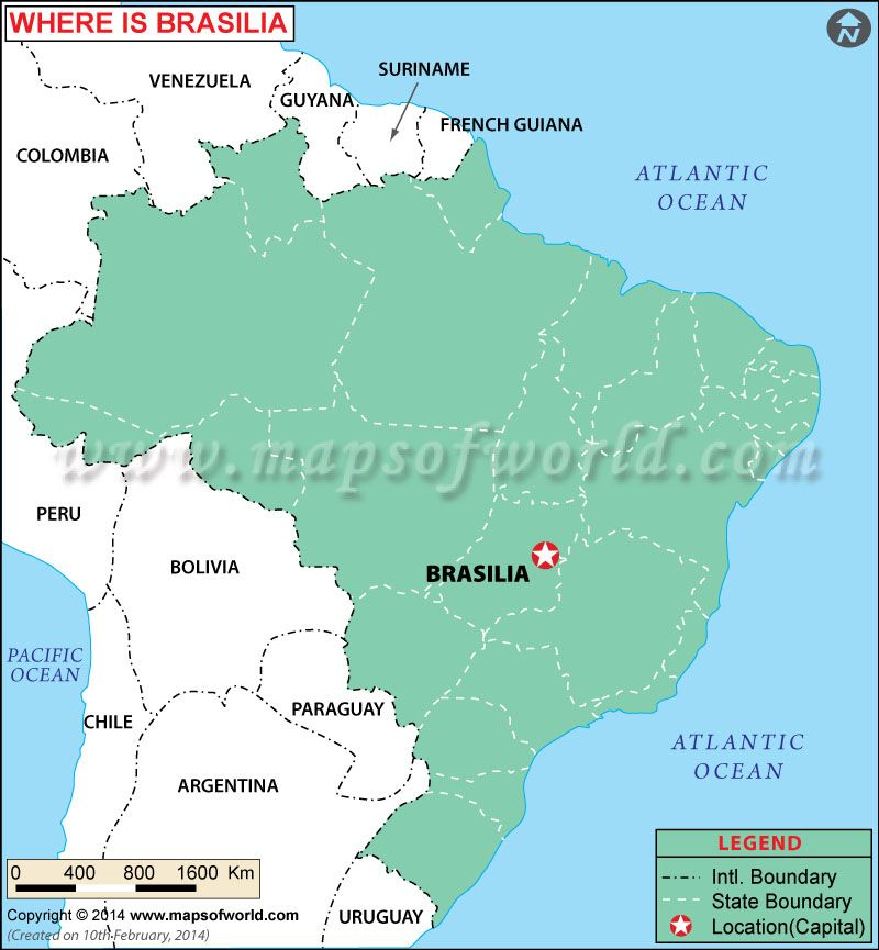 Brasilia On Map Of Brazil