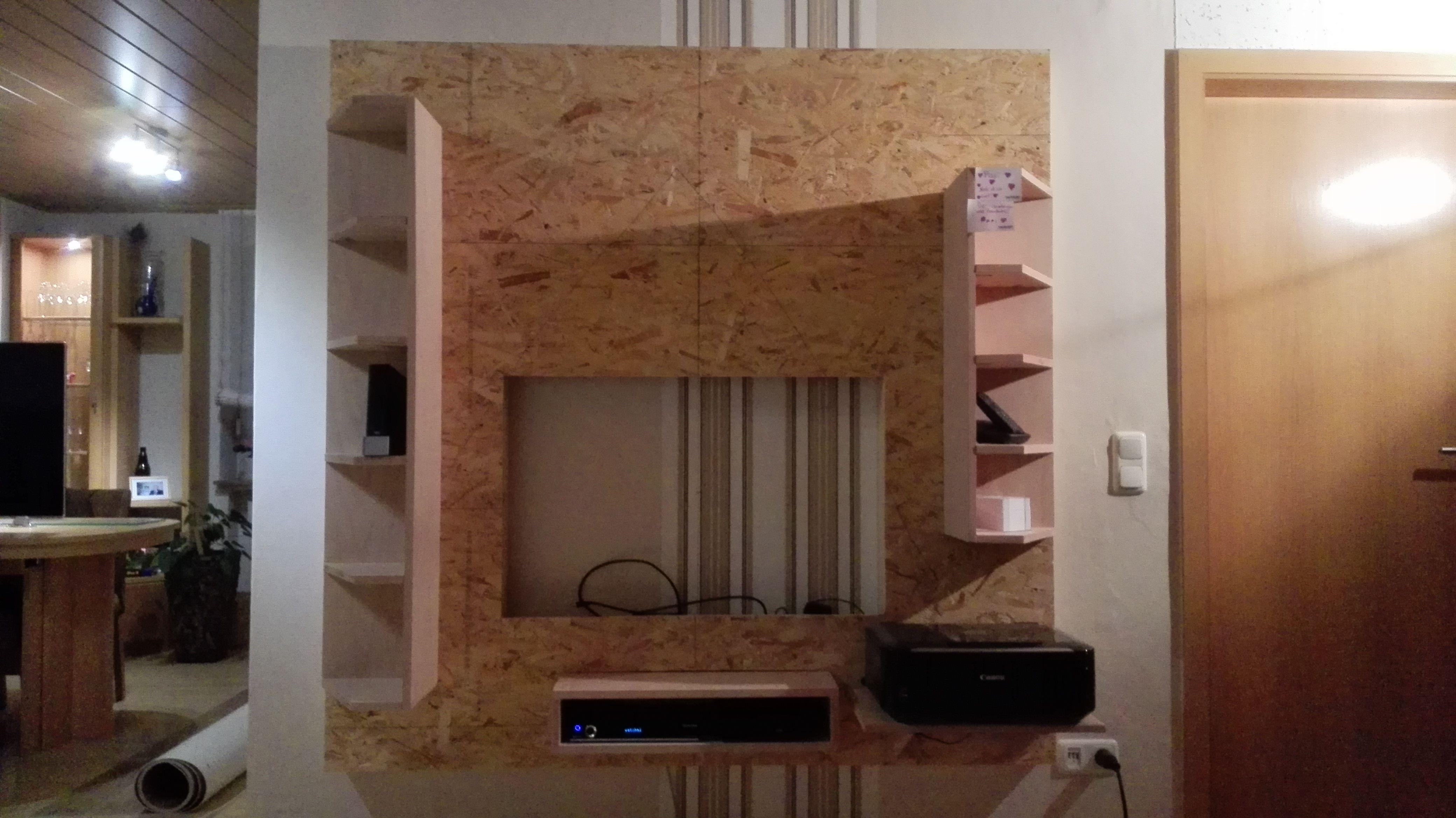 tv wand bauanleitung zum selber bauen heimwerker forum holzm bel pinterest tv wand. Black Bedroom Furniture Sets. Home Design Ideas