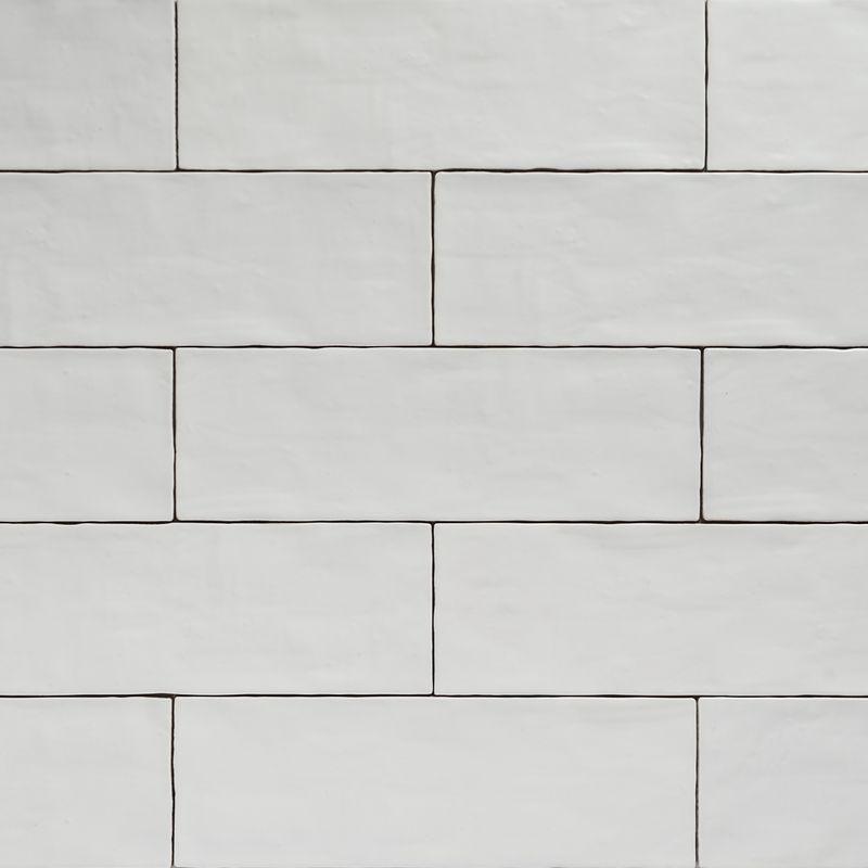 Handmade White Matt Natura Wall Subway Tiles 396 215 130 In