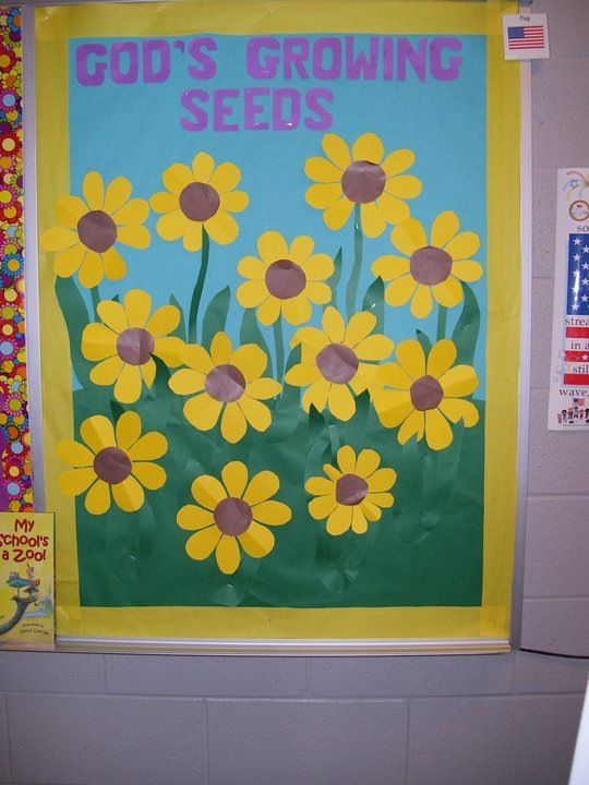 004 August bulletin board. You could also put the kids' faces