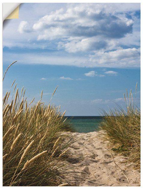 Photo of Artland Wandfolie »A. Schäfer: Strandzugang an der Ostsee« online kaufen | OTTO