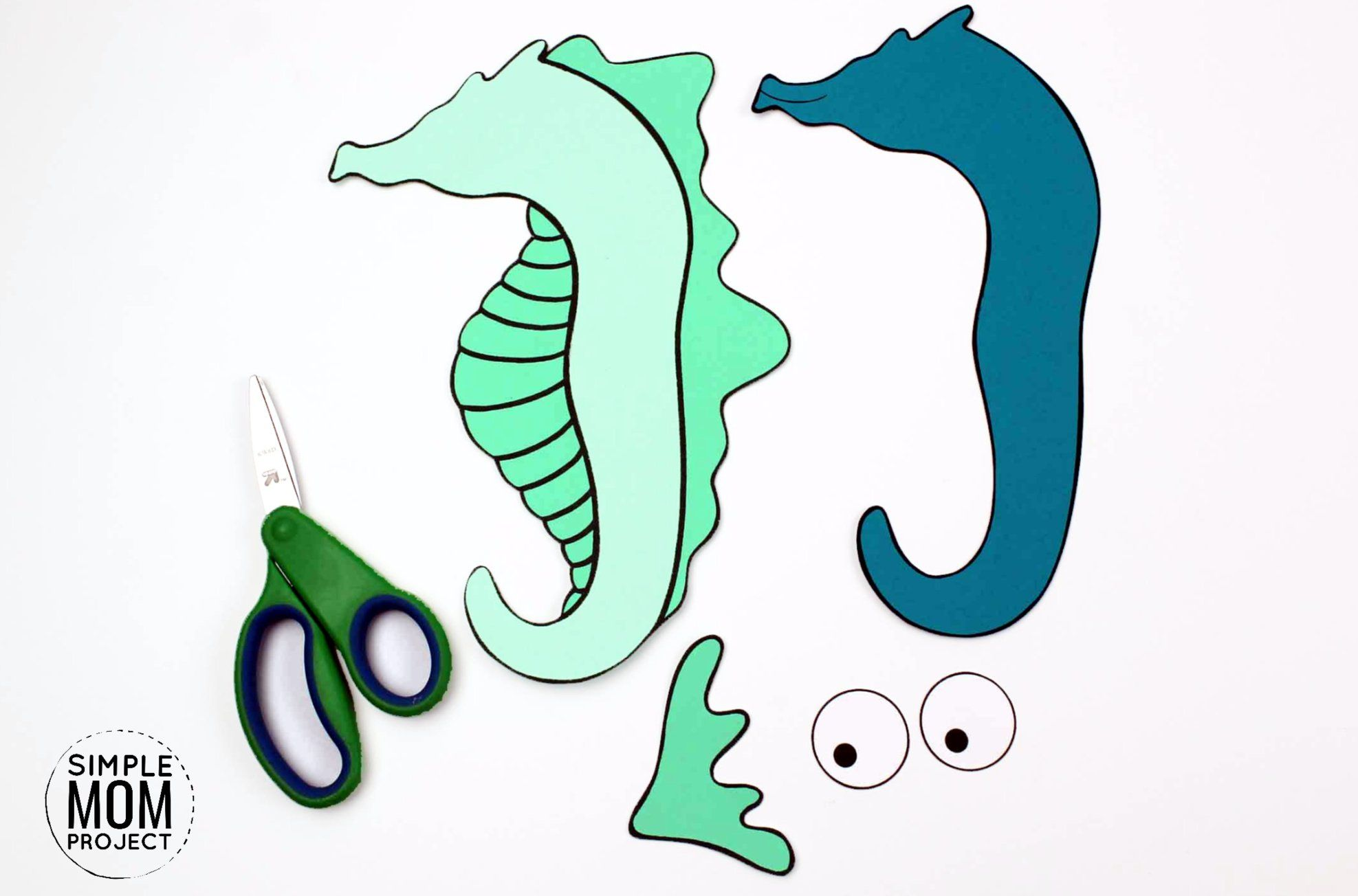 Fun Seahorse Craft For Kids With Free Seahorse Template In