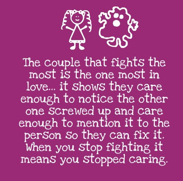positive love quote for fighting couples  Cute Love