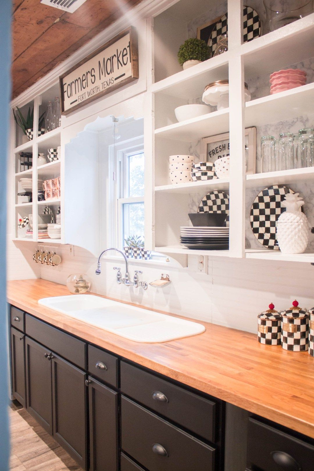 black and white industrial glam farmhouse kitchen from at home with kristyn cole white on farmhouse kitchen black and white id=79223