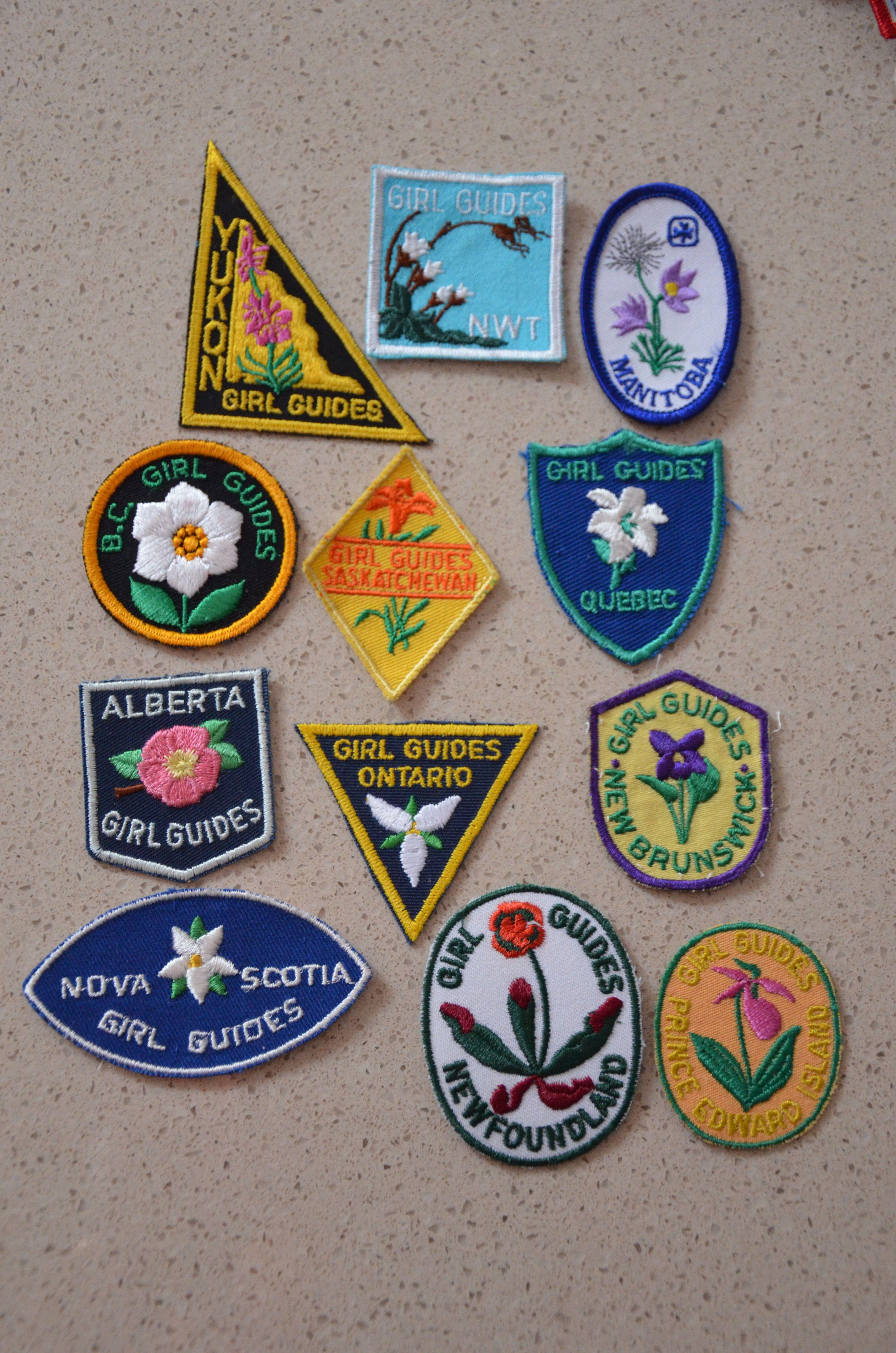 Girl Guides of Canada provincial flower crest set  #GGC