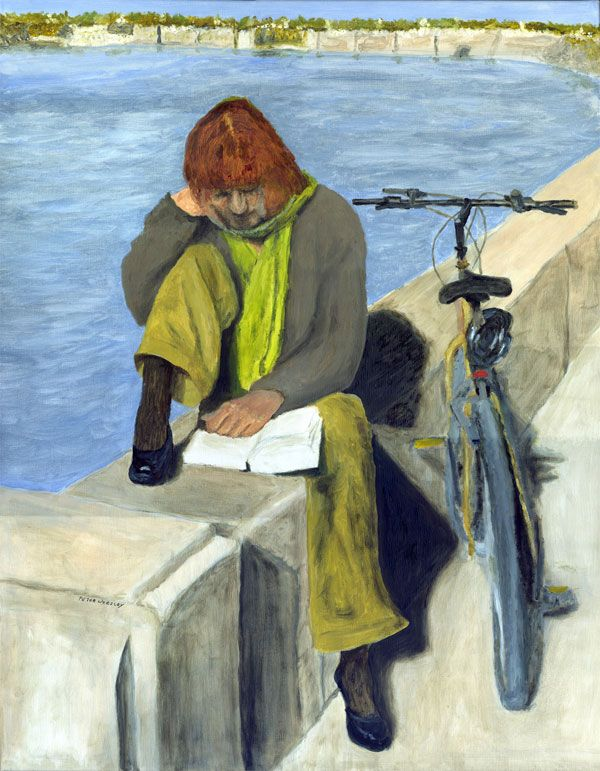 """""""Woman Reading"""" by Peter Worsley"""