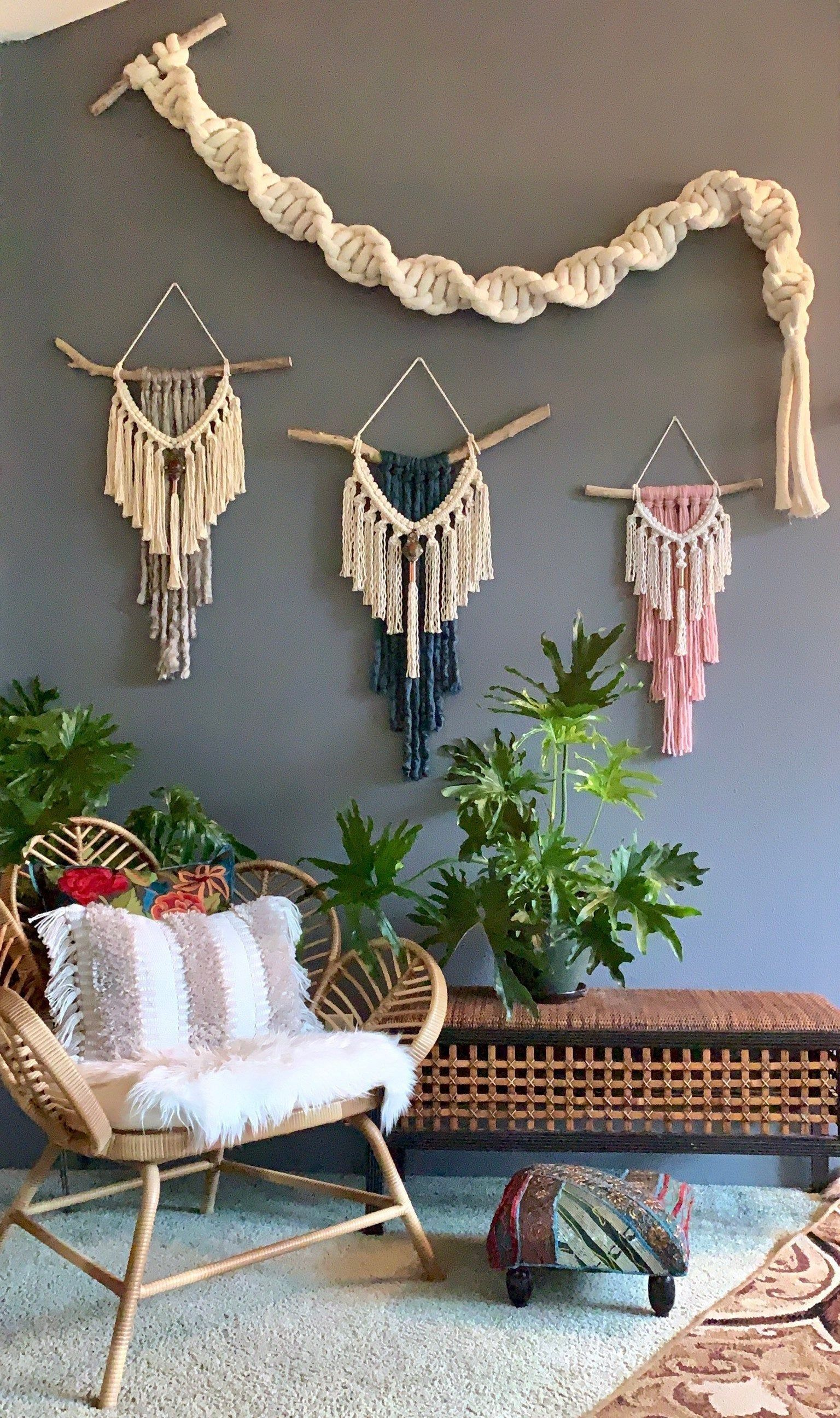 how to macrame wall hanging large