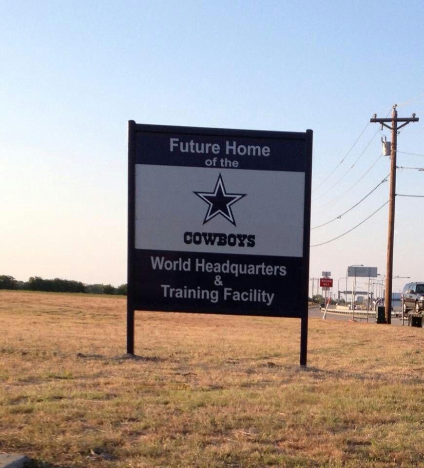 Dallas Cowboys Welcome Home Sign: Welcome To Frisco,TX, Cowboys! The Dallas Cowboys Are