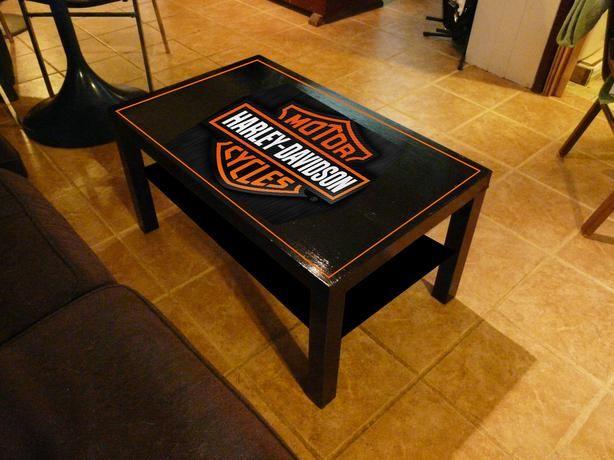 meuble en bois harley davidson