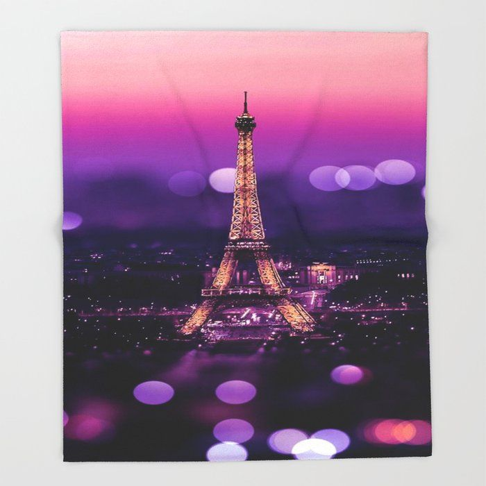 Eiffel Tower Throw Blanket by Exquisite - 51