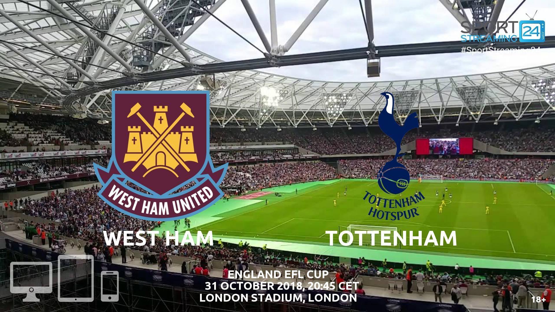 West Ham v Tottenham Live Streaming Football Tottenham