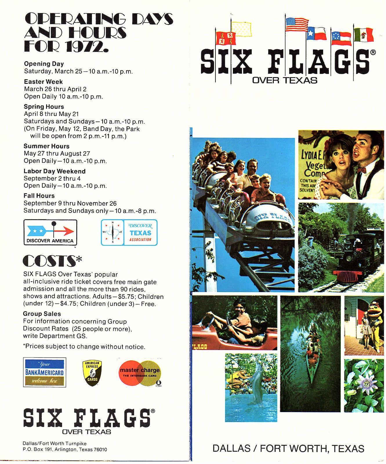 Six Flags Over Texas Amusement Park Vintage 1972 Brochure Color Photos Map Ebay Six Flags Over Texas Amusement Park Brochure