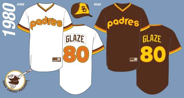 finest selection 20230 9b18b San Diego Padres Jersey History presented by The Glaze Page ...