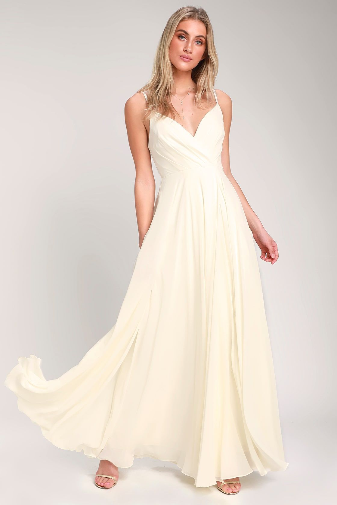 53ce7834d30f Lulus   All About Love Cream Maxi Dress   Size Small   White   100 ...