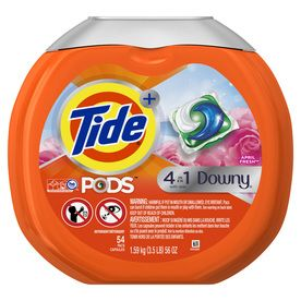 Tide Pods Plus Downy April Fresh 54 Count April Fresh He Laundry