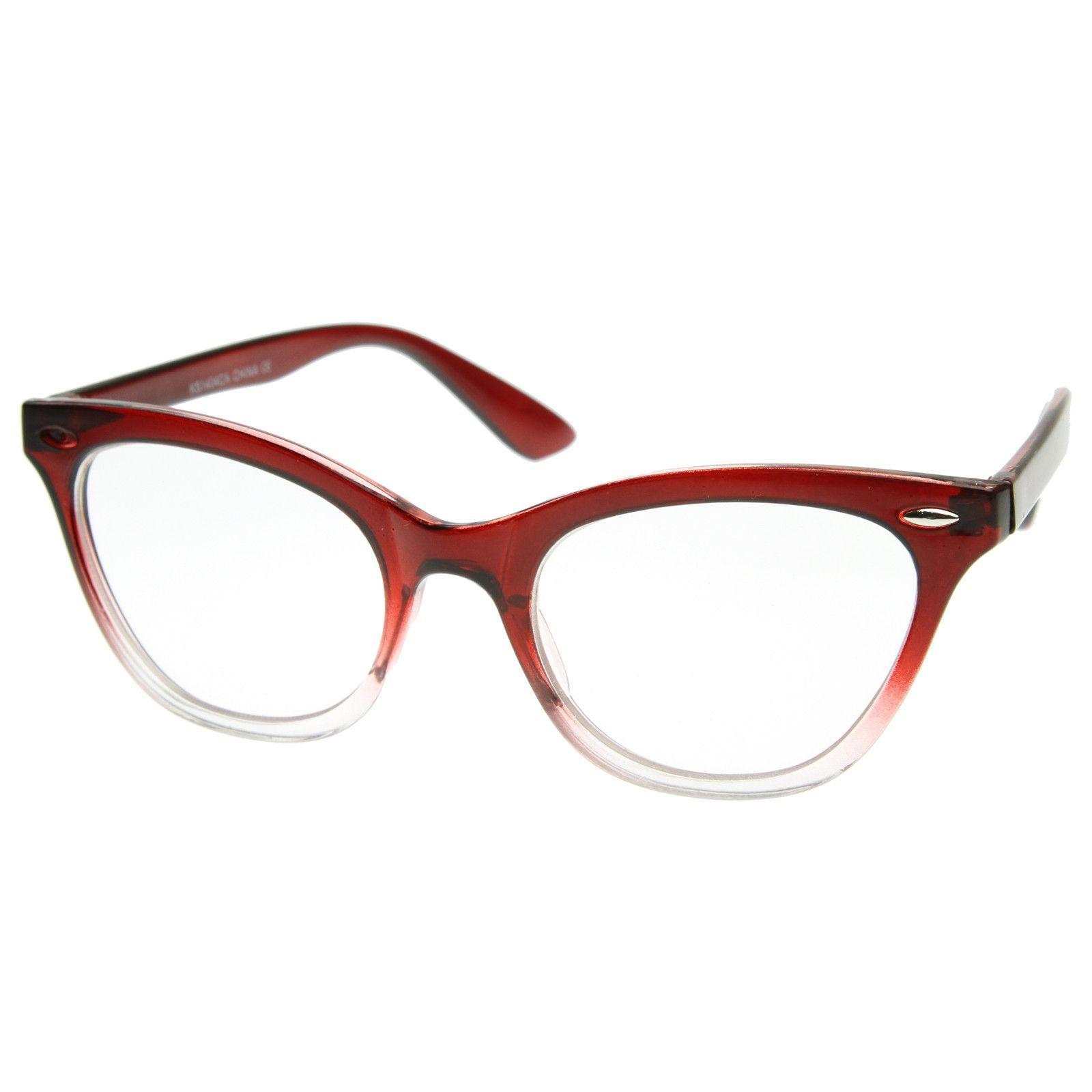 Retro 1950\'s RX Cat Eye Clear Lens Glasses 8532 | Cat eyes, RC Lens ...