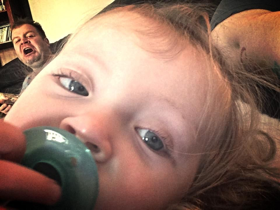 Daddy photo bomb #daddy #love #family #dad #daughter #baby