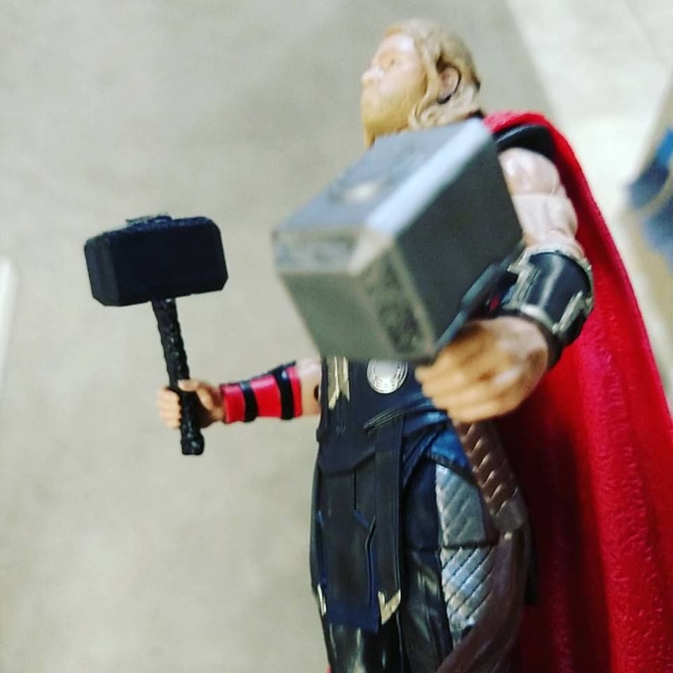 3d printed test print of 6 inch marvel legends thor s hammer