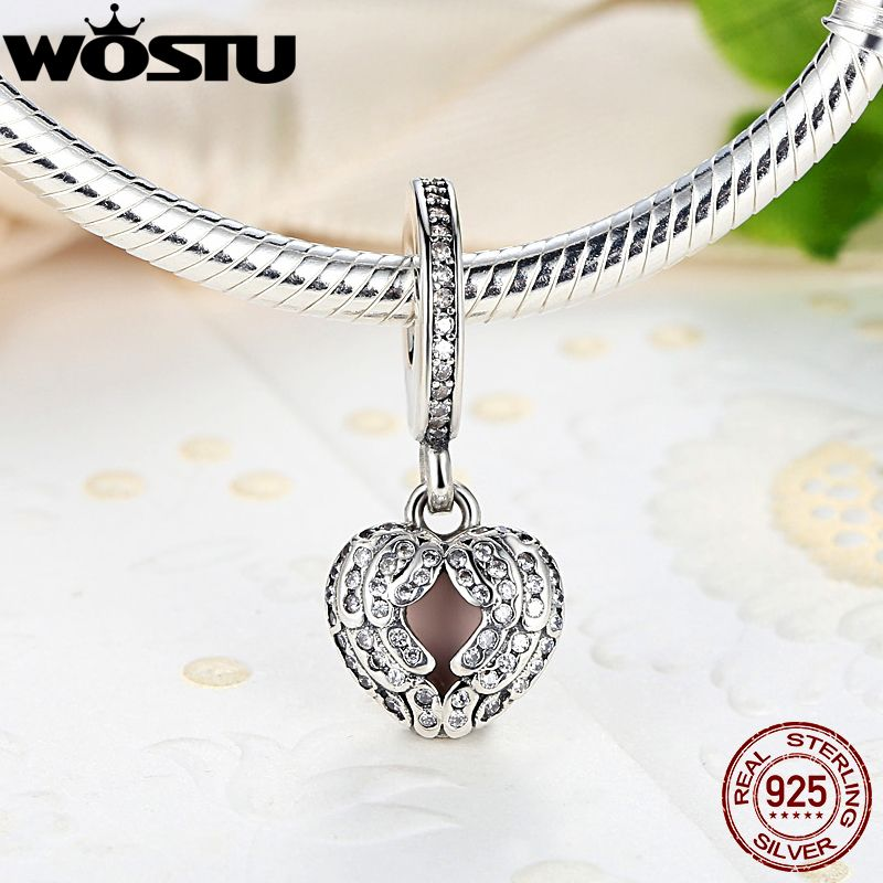 16f01a2ff promo genuine 925 sterling silver angel wings charm with clear cz fit  original pandora bracelet necklace #angel #jewelry
