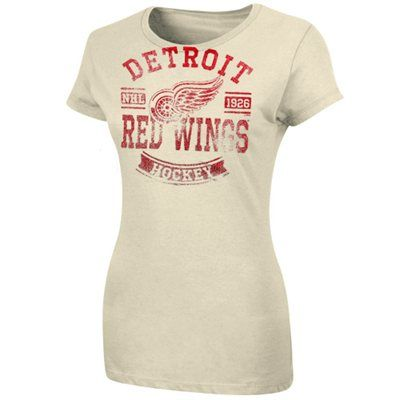 739ef3d2e  19.95Detroit Red Wings Ladies First Down Crew T-Shirt - White Women s  Hockey