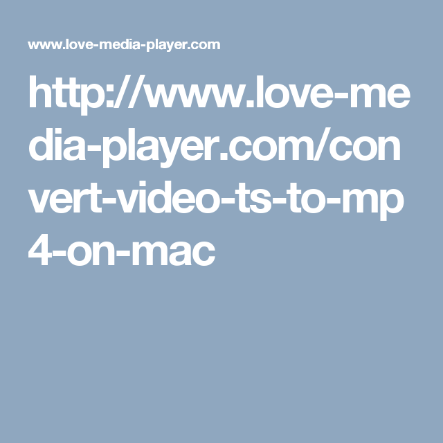 video ts to mp4