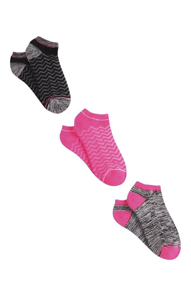 96d1670d474ec Primark - Lot de 3 paires de socquettes roses | primark | Socquettes ...