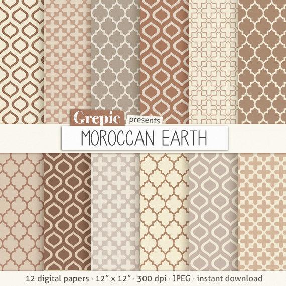 50 moroccan digital paper moroccan earth cream beige brown grey neutral earth tones w. Black Bedroom Furniture Sets. Home Design Ideas