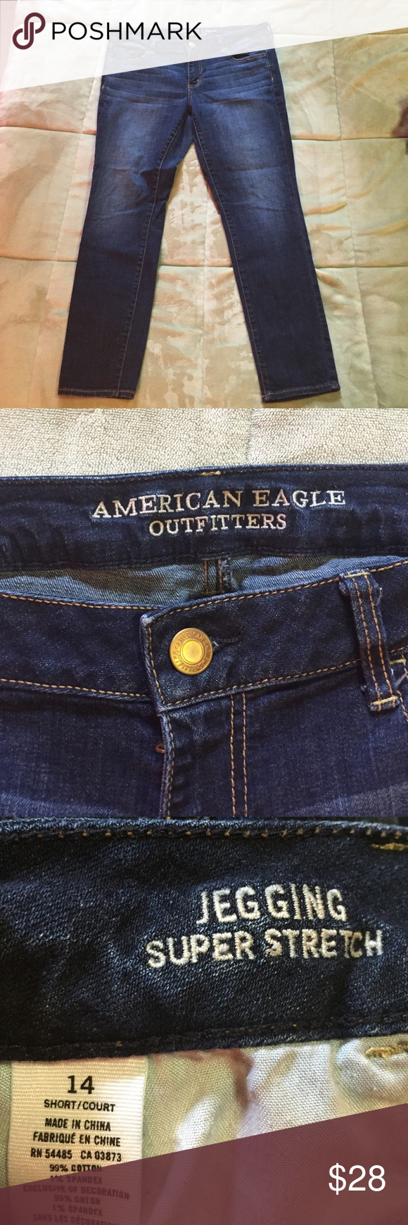 AE jeggings AE super stretch jeggings size 14 short, great condition! American Eagle Outfitters Jeans