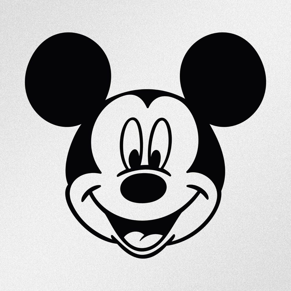 Mickey Mouse Decal Cartoon Vinyl Sticker Laptop Car Window Choose Color!