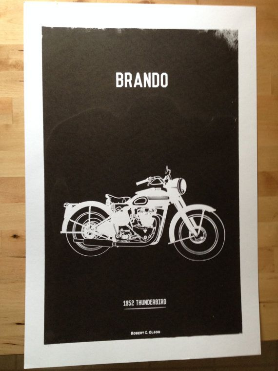 Classic Brando Motorcycle Poster
